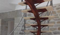 Escalier tournant métal