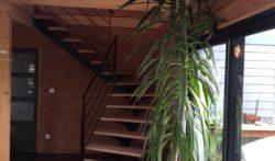 escalier quart tournant marche bois