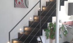 escalier marche en tole