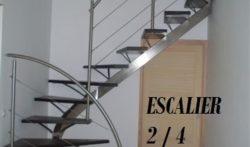 Escalier limon et rampe