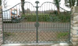 portail en fer forgé