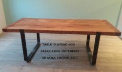 TABLE  ACIER  BRUT ET BOIS